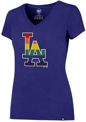 '47 Women's Los Angeles Dodgers Pride Splitter V-Neck T-Shirt