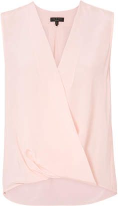 Rag & Bone Victor Baby Pink Wrap Blouse