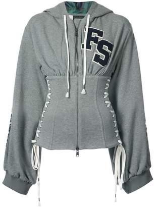 Puma corset zipped hoodie