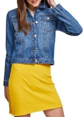 Miss Selfridge Cropped Denim Jacket