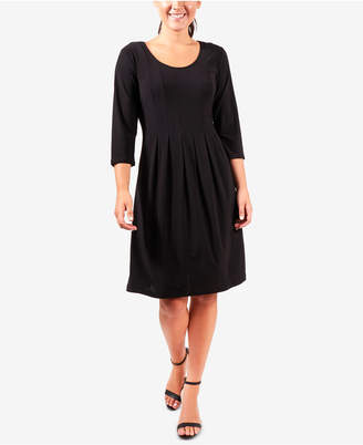 NY Collection Pleated Flare Dress