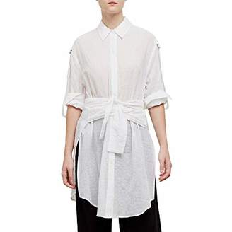 Kenneth Cole Women's Wrap Button Down Tunic