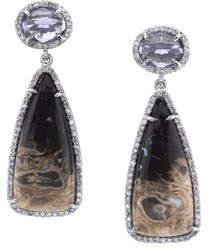 Sheryl Lowe Palm Root & Iolite Teardrop Earrings