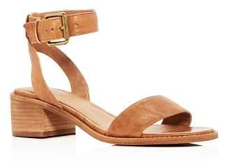 Frye Women's Cindy Leather Ankle Strap Block Heel Sandals