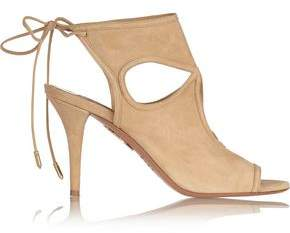 Aquazzura Sexy Thing Cutout Suede Sandals