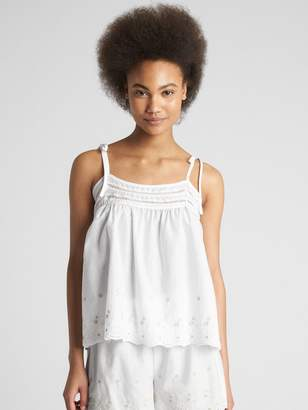 Gap Dreamwell Embroidered Smock Cami