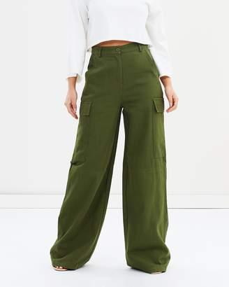 Missguided Premium Wide Leg Cargo Trousers