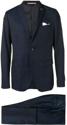 Paoloni check two-piece formal suit