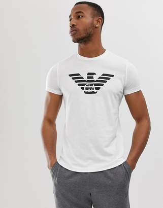 Emporio Armani chest eagle logo t-shirt in white