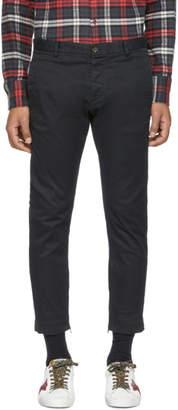 DSQUARED2 Black Skinny Dan Zip Trousers