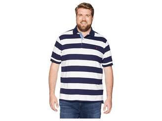 Polo Ralph Lauren Big Tall Jersey Short Sleeve Yarn-Dyed Knit Collar Men's Clothing