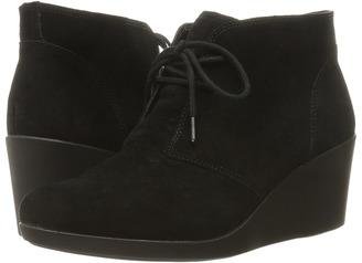 Crocs - Leigh Suede Wedge Shootie Women's Boots $80 thestylecure.com