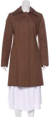 Via Spiga Coated Knee-Length Coat