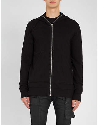 Rick Owens Gimp longline cotton-knitted hoody