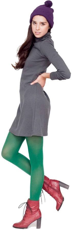 American Apparel Interlock Turtleneck Tent Dress