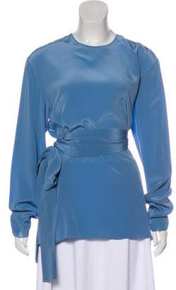 Rochas Silk Tie-Accented Blouse