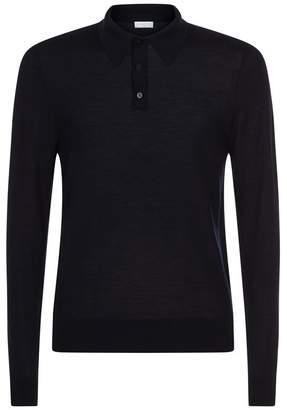 Sandro Fine Knit Polo Shirt