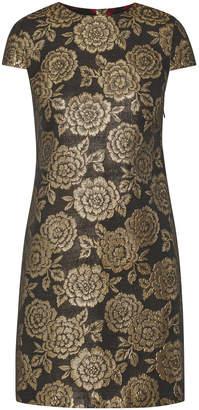 Sam Edelman Brocade Cap Sleeve Dress