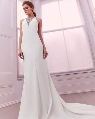 Ted Baker NABILA Embellished maxi dress with train