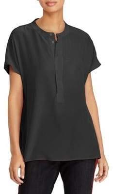 Polo Ralph Lauren Short-Sleeve Relaxed-Fit Silk Blouse