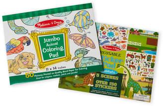 Melissa & Doug Jumbo Animal Coloring & Sticker Pad Bundle