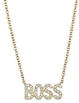Ef Collection 14K Yellow Gold& Diamond Boss Pendant Necklace
