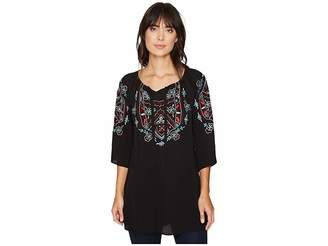 Scully Cantata Embroidered Tunic Women's Blouse