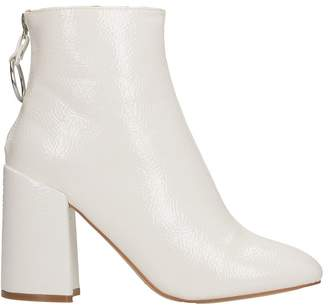 Steve Madden Posed Patent White Leather Bootie