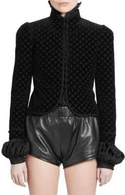 Saint Laurent Fleur De Lis Velvet Jacket