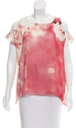 Alice + Olivia Printed Cold-Shoulder Top w/ Tags