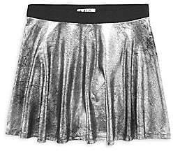 Mia Girl's Metallic Crackle Skater Skirt