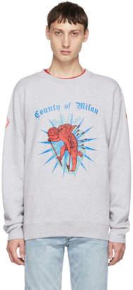 Marcelo Burlon County of Milan Grey Cupido Sweatshirt
