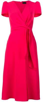 Elisabetta Franchi midi wrap dress