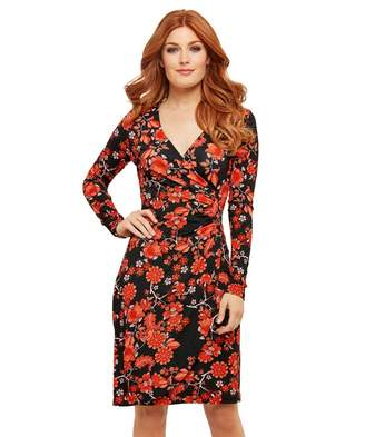 Joe Browns Multicoloured Printed Jersey 'Feisty Floral' Wrap Dress