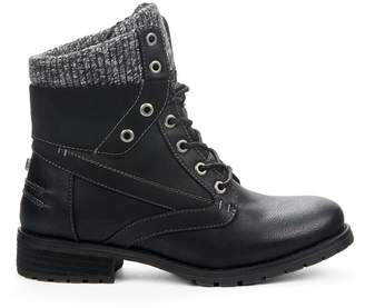 Yellow Shoes BREEZY Women Combat Boots - Snow Boots Perfect for Cold Winter Days - Casual & Comfortable & Trendy & Fashion - Ankle High Low Block Heel Made from Synthetic Leather & Warm Memory Foam