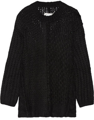 Maison Margiela - Oversized Alpaca-blend Sweater - Black $995 thestylecure.com