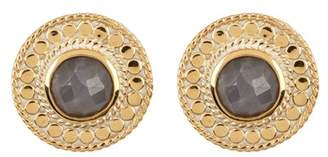 Anna Beck 18K Gold Plated Grey Sapphire Stud Earrings