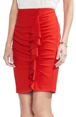 Vince Camuto Ruffle-Front Bodycon Skirt