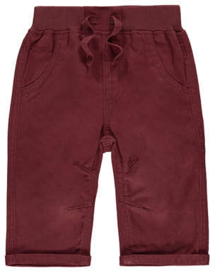 George Burgundy Woven Trousers