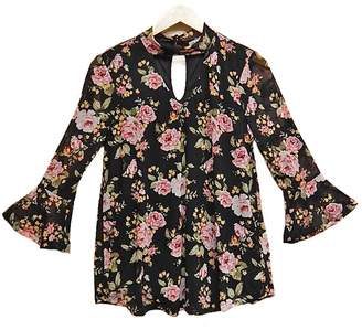 Absolutely Famous Floral Choker Top