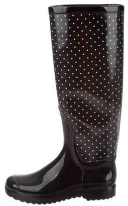 Dolce & Gabbana Polka Dot Rain Boots Black Polka Dot Rain Boots