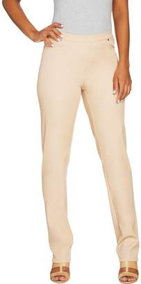 Halston H By H by Regular Studio Stretch Straight Leg Pull-on Pants