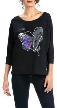 Desigual Gabi Heart + Butterfly T-Shirt