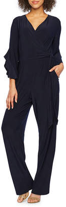 S.O.H.O New York 3/4 Sleeve Belted Jumpsuit