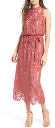 Women's Wayf 'Portrait' Lace Midi Dress $85 thestylecure.com