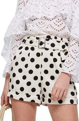 Topshop Polka Dot Shorts