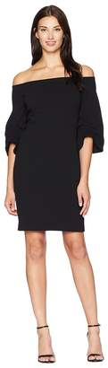 Vince Camuto Cinched Sleeve Off Shoulder Crepe Ponte Dress Women's Dress