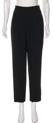 Charles Chang-Lima High-Rise Straight-Leg Pants