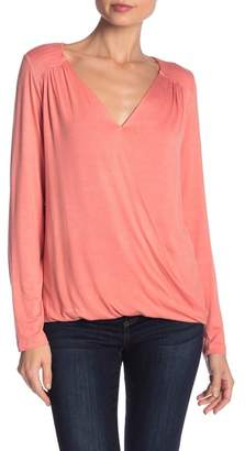 Bobeau Long Sleeve Surplice Tee