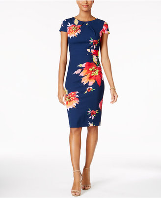 JAX Floral-Print Sheath Dress $138 thestylecure.com